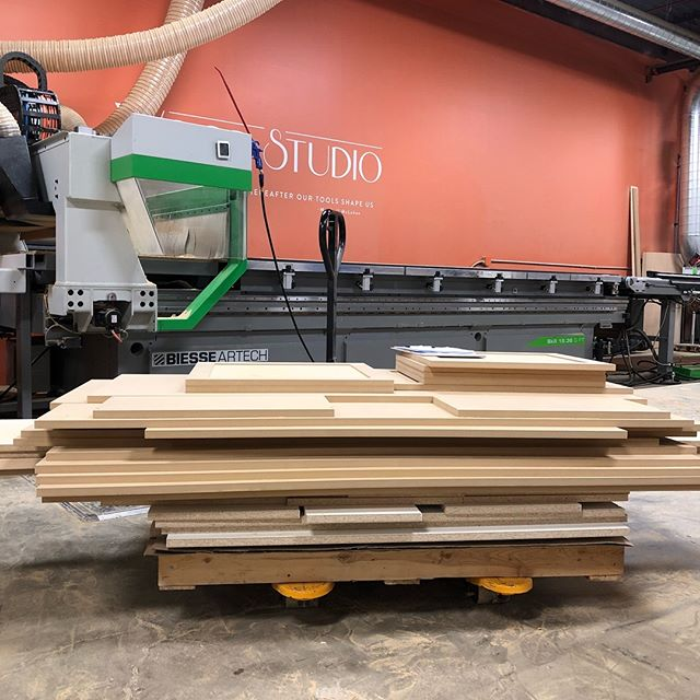 Let's face it, your time is more valuable than standing behind a saw cutting squares... we can cut just about anything and it will probably be less expensive than you think.  Basic cabinet parts and doors with dependable rate and turnaround with CNC quality precision! DM for more info! #cuttosize