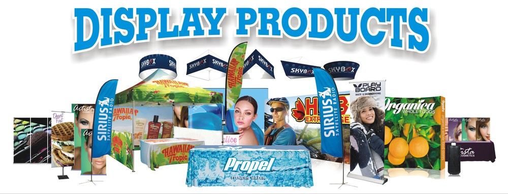 K&M Graphics has added a variety of signs and display products to our production line.  We now offer quality outdoor feather and teardrop banners, outdoor pop up displays, retractable banners and stands, indoor hanging banners and much more.  If you go to  kmgraphics.org and click on the Display Products image on the home page, it will take you to our new catalog.  Take a look and feel free to contact us for a free quote.  From signs, vehicle wraps, and now display products, we have your graphics needs covered.