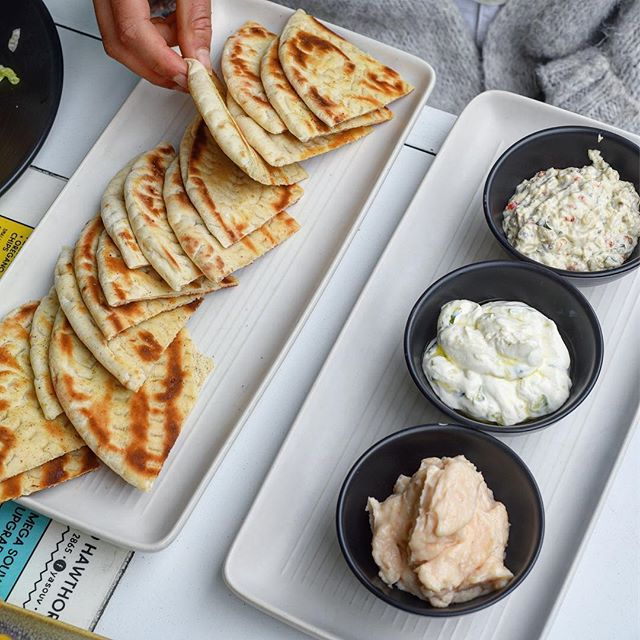 Pita and Trio of Dips 🙌🏻