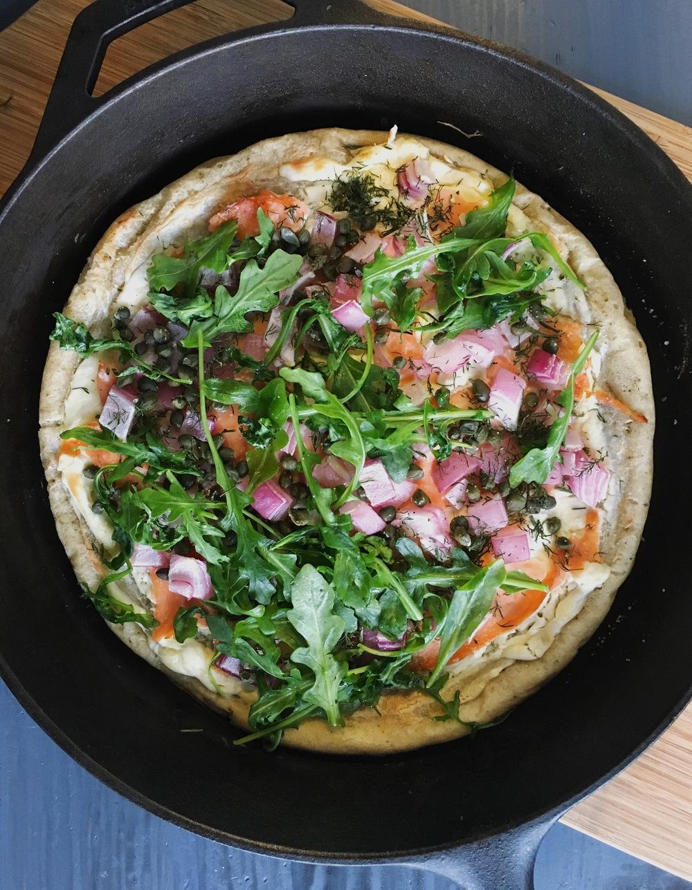 CastIronSalmonPizza