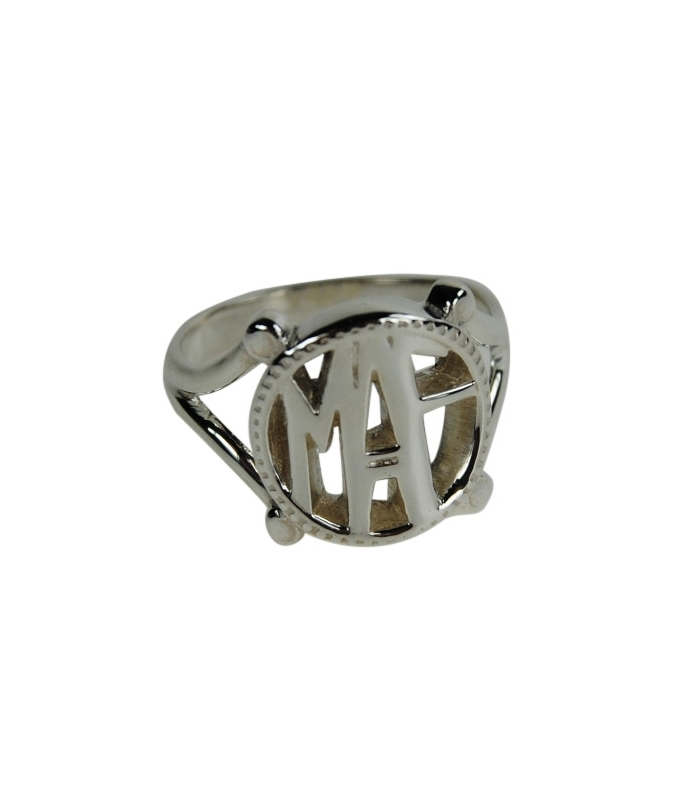 Sterling Silver Art Deco Signet Family Ring