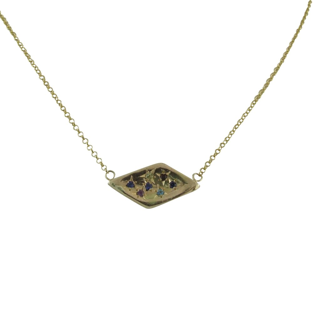 14k yellow gold grandmother necklace (side two)