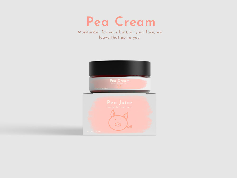 Pea Cream - Moisturizer - Design - Photoshop