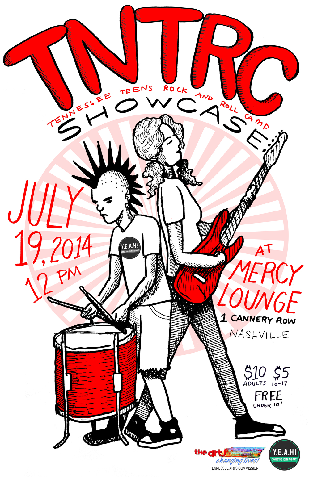 Tennessee Teens Rock n roll Camp Showcase