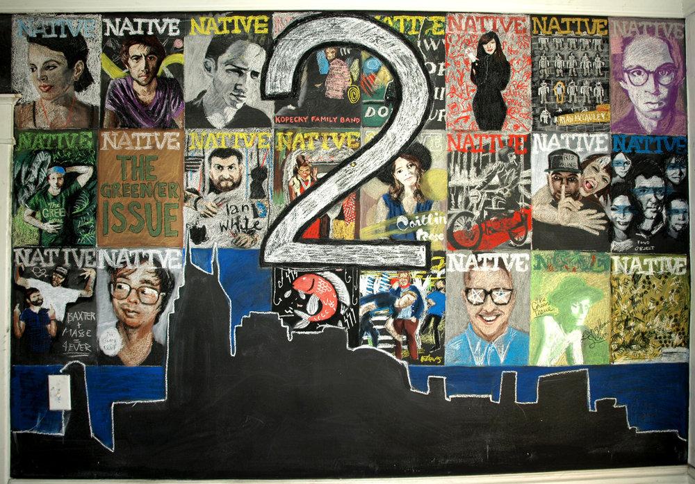 Native Magazine Chalk Mural