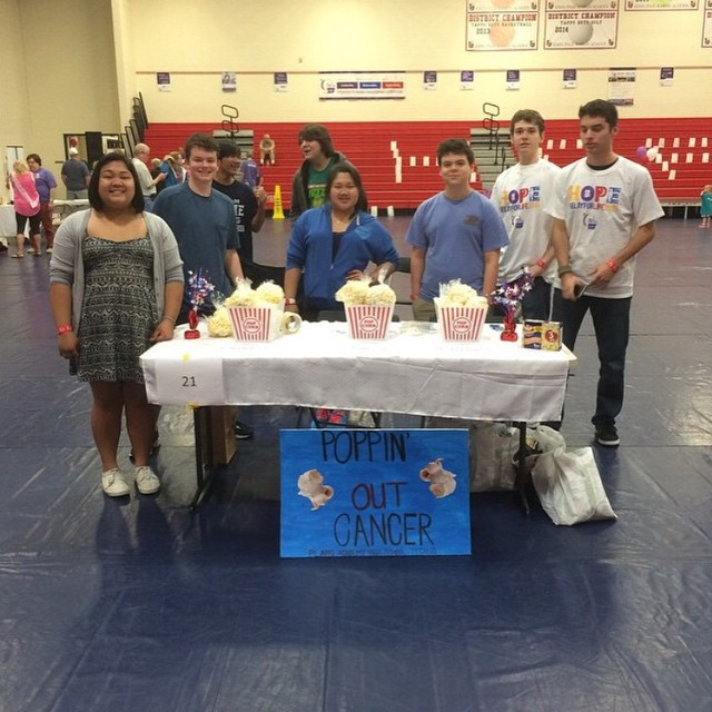 #HERORELAY2015 Academy HS National Honor Society Relay for Life!