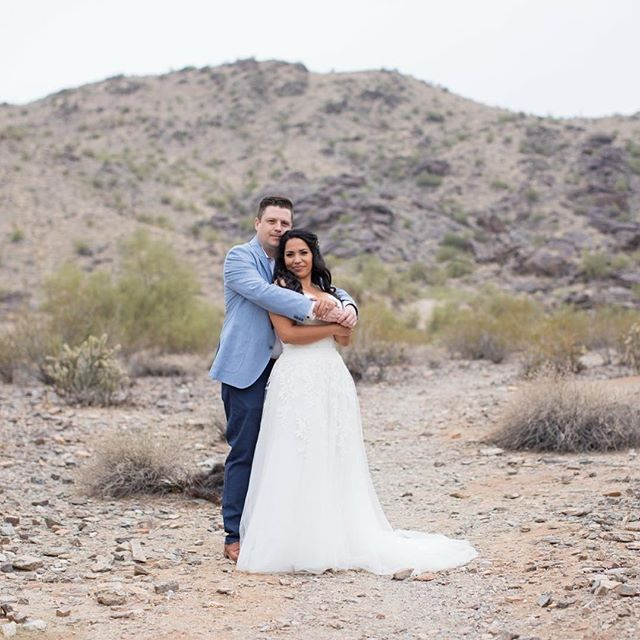 Rain or shine, this gorgeous couple tied the knot yesterday! . . . #rainyday #backyardwedding #wedding #love #phoenix #arizona #azwedding #azweddingplanner #phoenixwedding #beautiful #bride #groom #mountains #desert #rain #gorgeous
