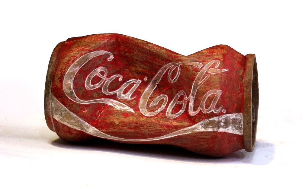 Canned Coke no.2, 9x18.5 Wood