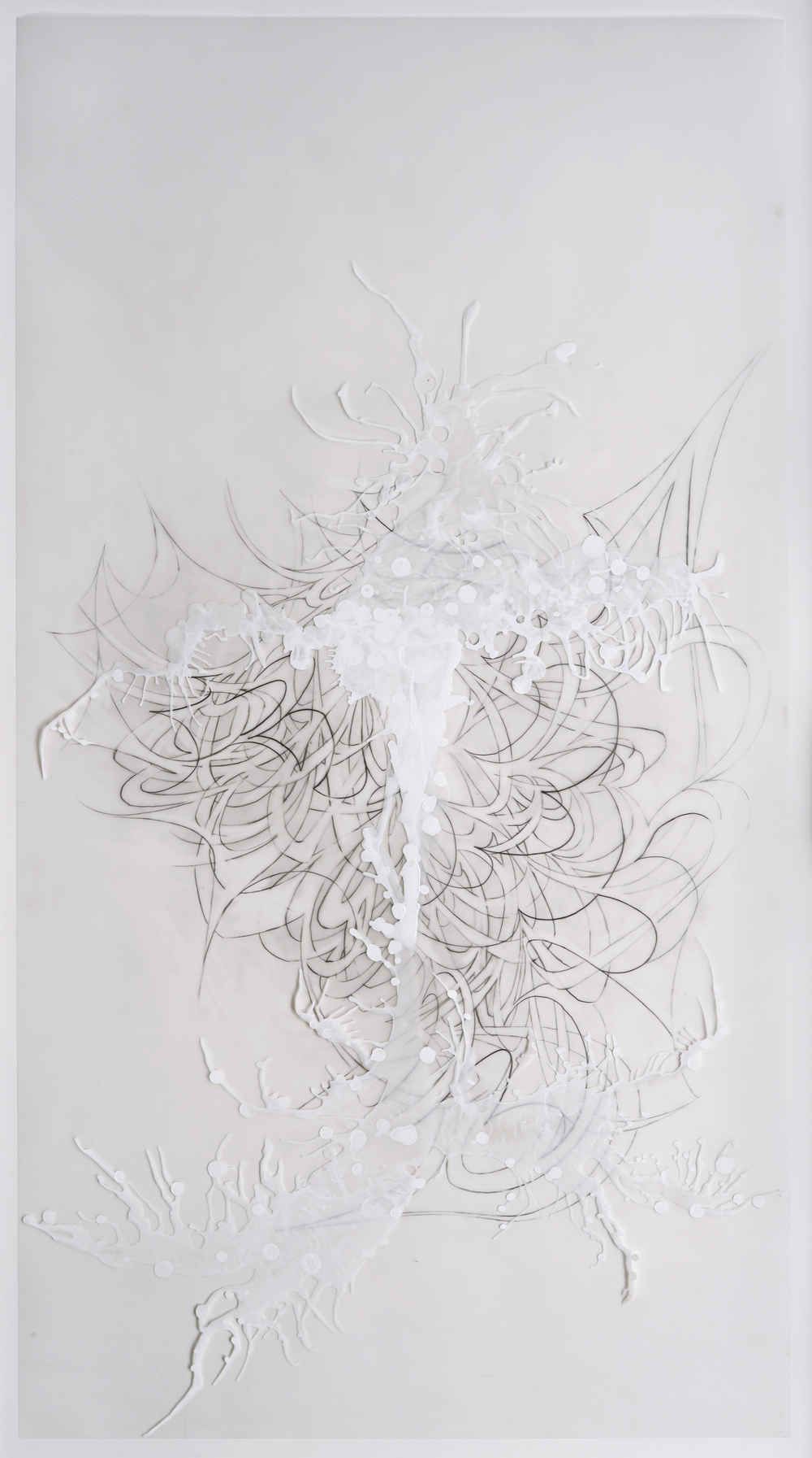 Little Ghost , 2008  Acrylic on mylar and graphite  36 x 21 1/2 inches