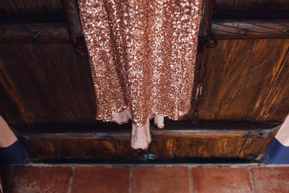 sequin dress rose gold