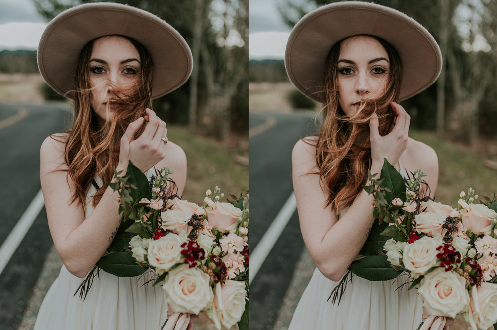 country styled bridal shoot