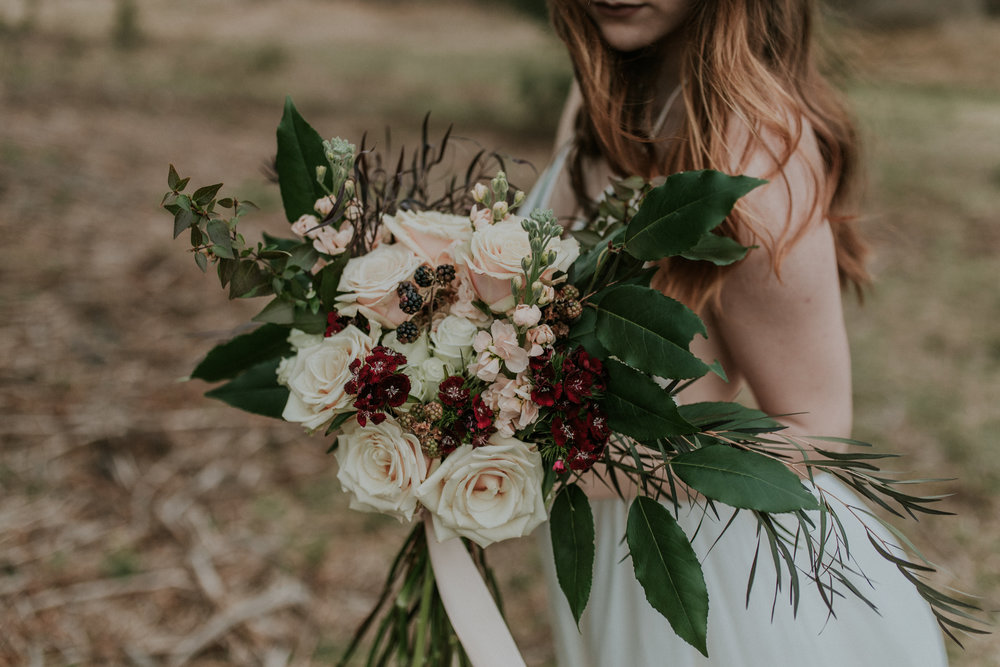 berries wedding bouquet