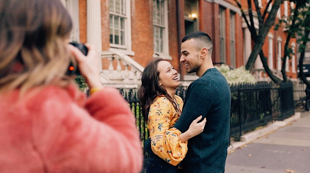 Behind the scenes at REAL shoots with REAL clients… - Take a walk with me as I photograph a real couple and show my entire process for working with my clients on-location. This section alone is said to be worth the price of admission. How to pose and direct clients that AREN'T professional models. Learn how to guide your clients into natural poses, creating beautiful, candid moments that showcase their individual personality in five different modules covering the entire session.