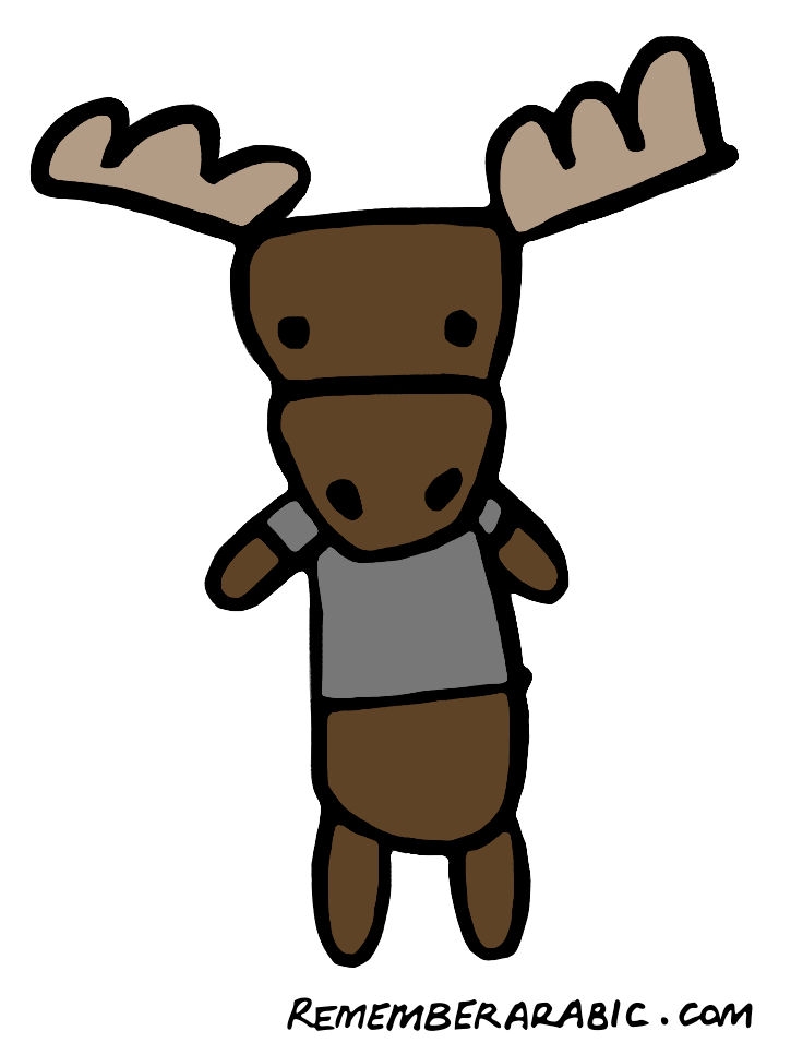 Fig. 2 Bonnie the moose: a noun yet to decline for case.