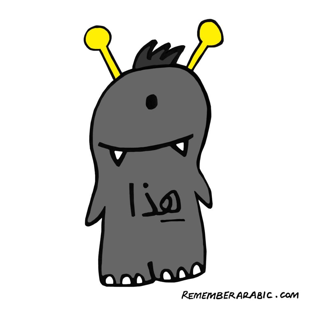 Fig. 4 Haa-tha [ singular, near, masculine]