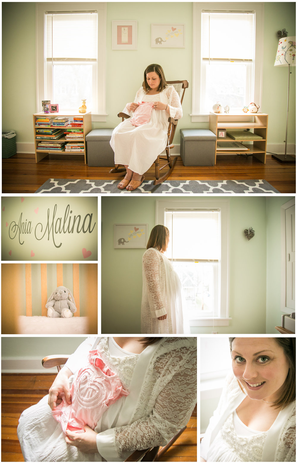 We also wanted to document Ania's nursery since it was prepared so sweetly. My favorite part of the shoot was recreating a photo that was taken of Maria's mom when she was pregnant....with Maria.