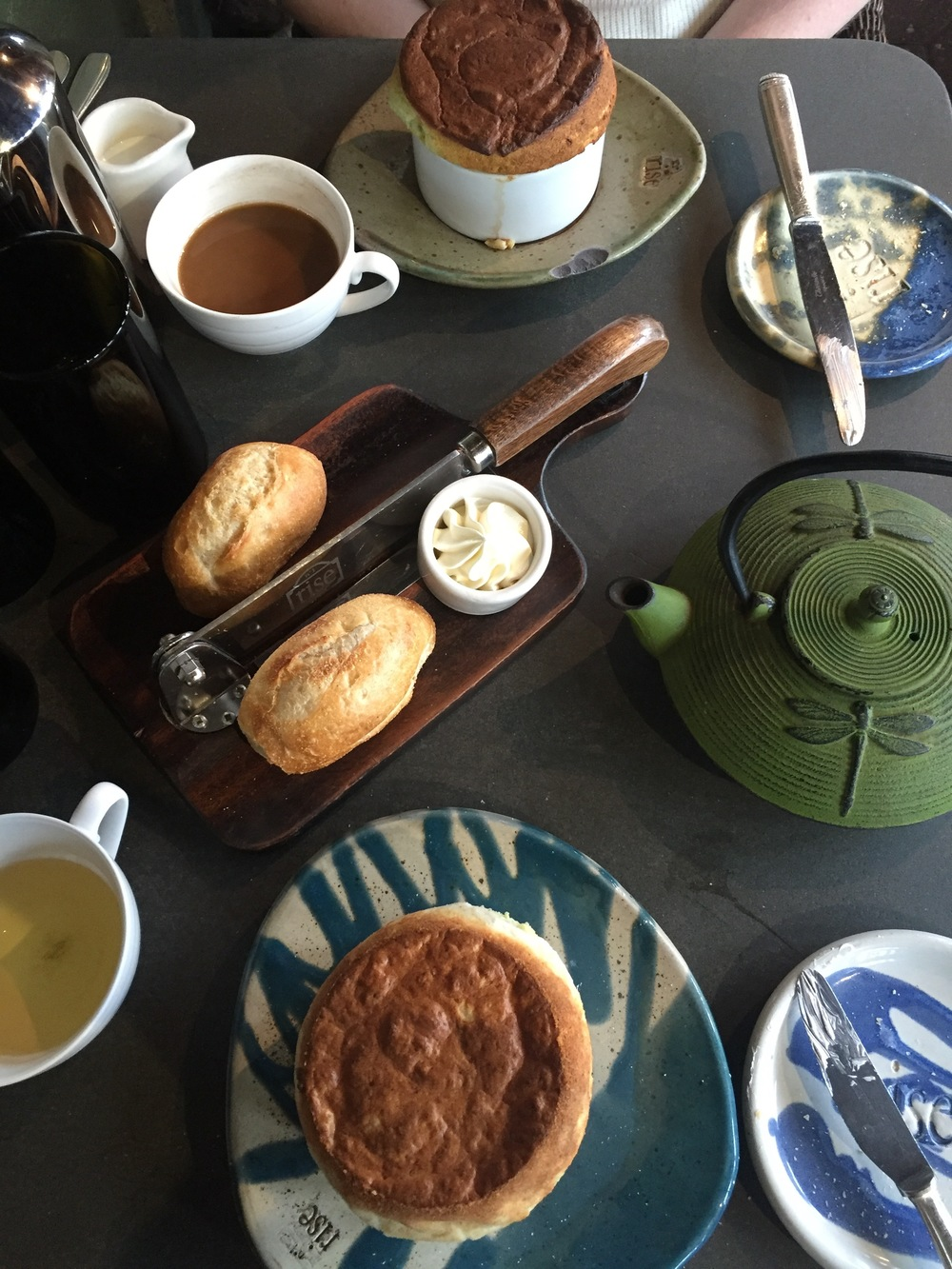 Bread, tea, coffee, and souffles? I think a better Saturday doesn't exist.