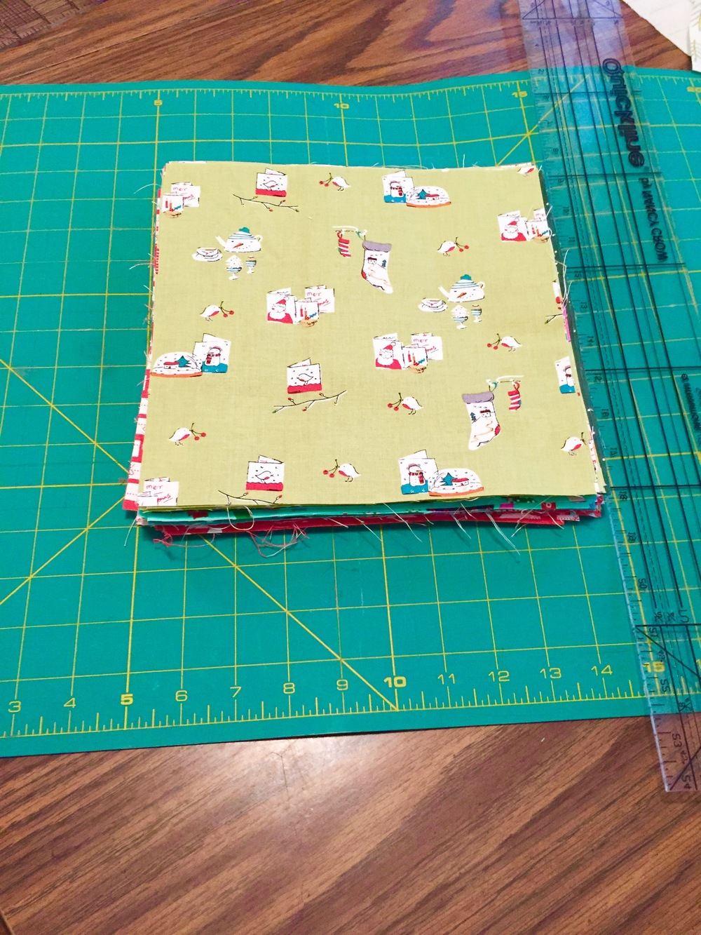 All of my squares cut out and ready to go!