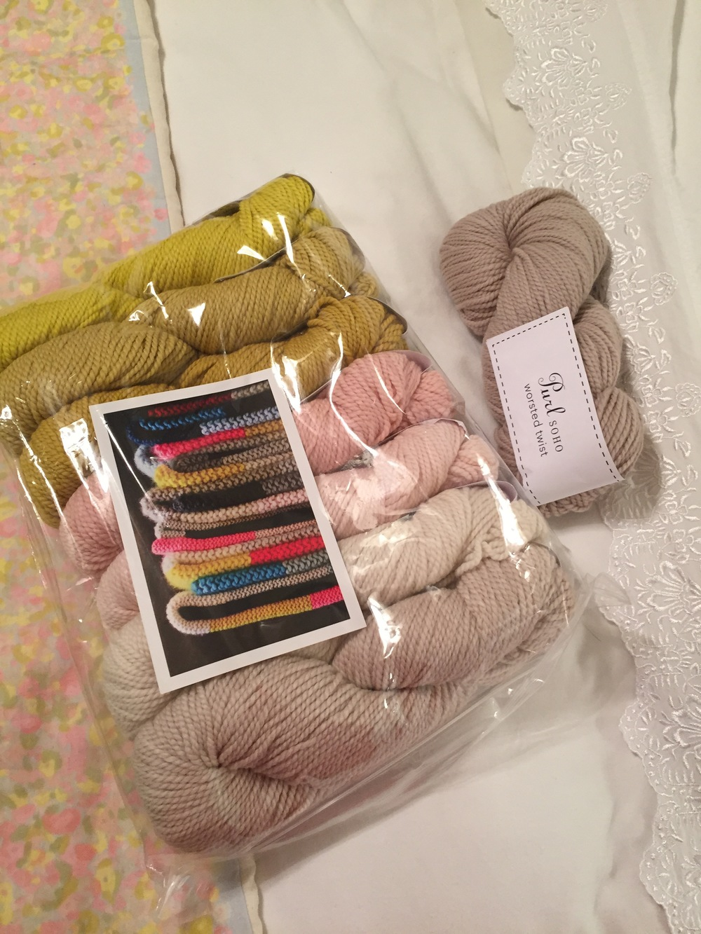 November 13, 2014- the yarn arrived.