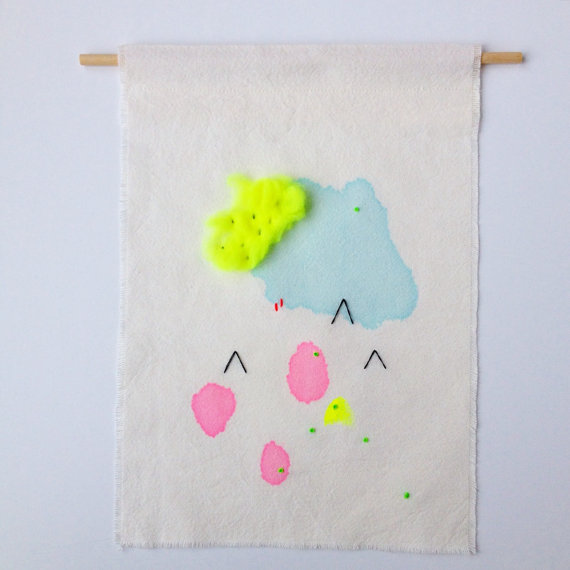 Neon Swatch No 1 wall hanging by Elizabeth Pawle