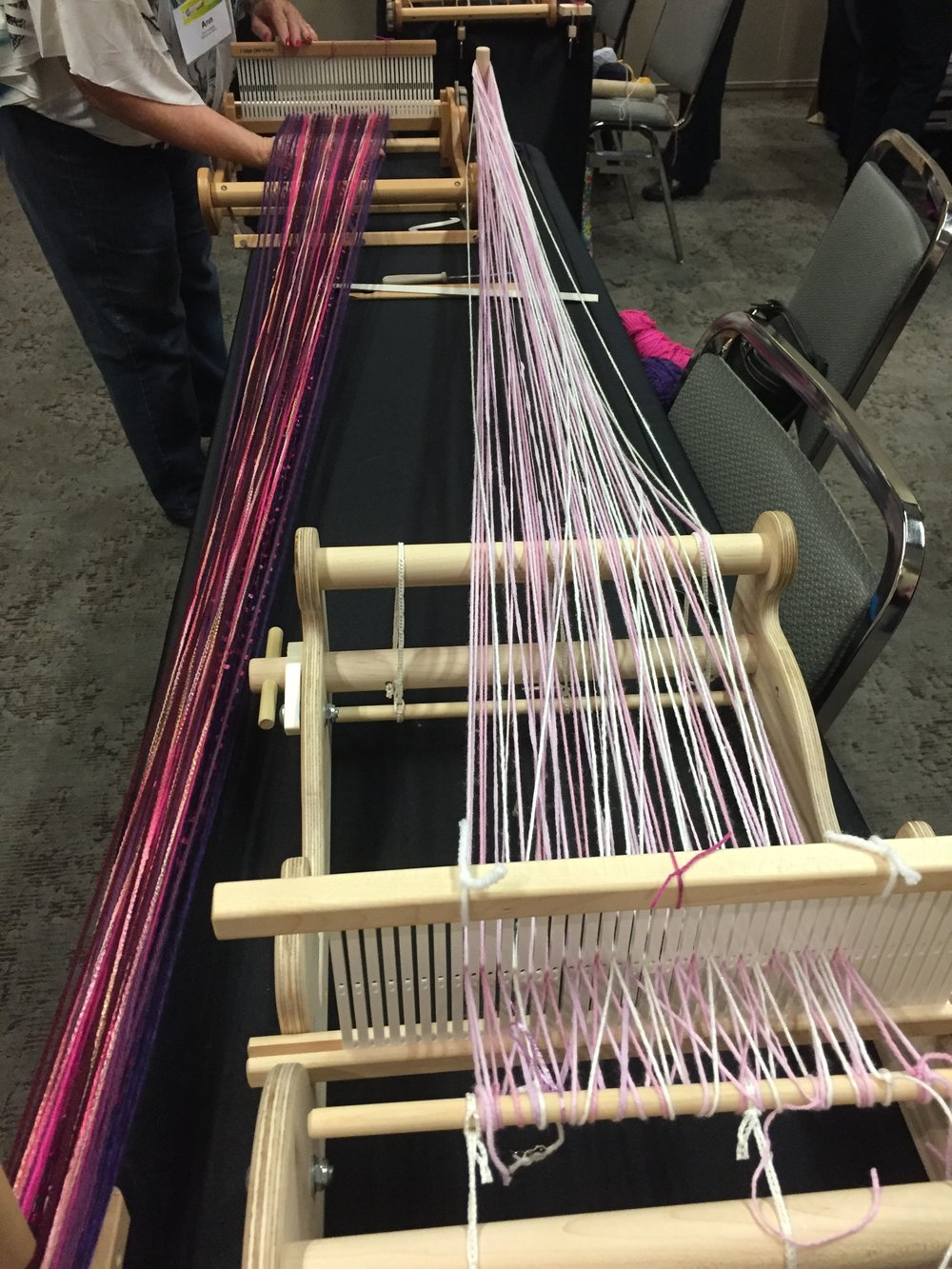 warping the loom!
