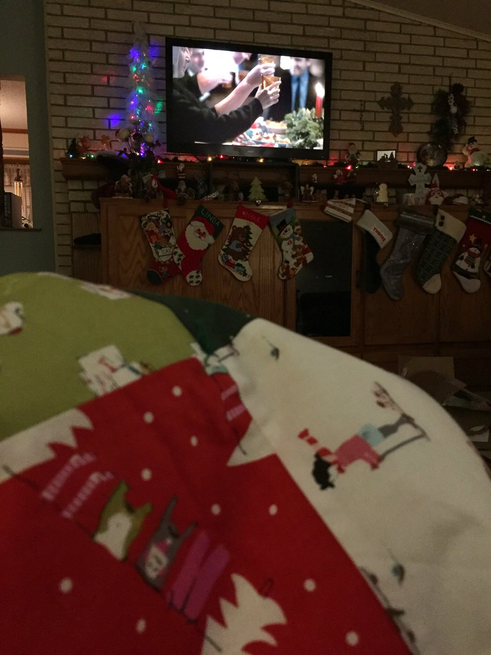 Christmas night, Christmas quilt, and Christmas special of Call the Midwife! I think I watched ALL of season 5 while working on this quilt.
