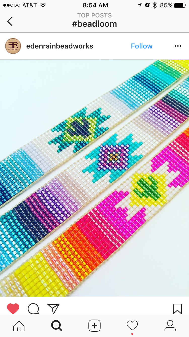 Love all of the cacti in Eden Rain Beadworks bracelets!  Instagram .  Etsy .