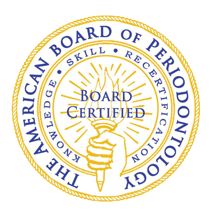 Dr. Wade Gaither is Board Certified by the American Board of Periodontology. Click the Logo to learn more.