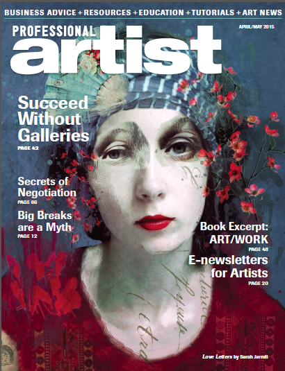 E-newsletters for Artists  in  Professional Artist