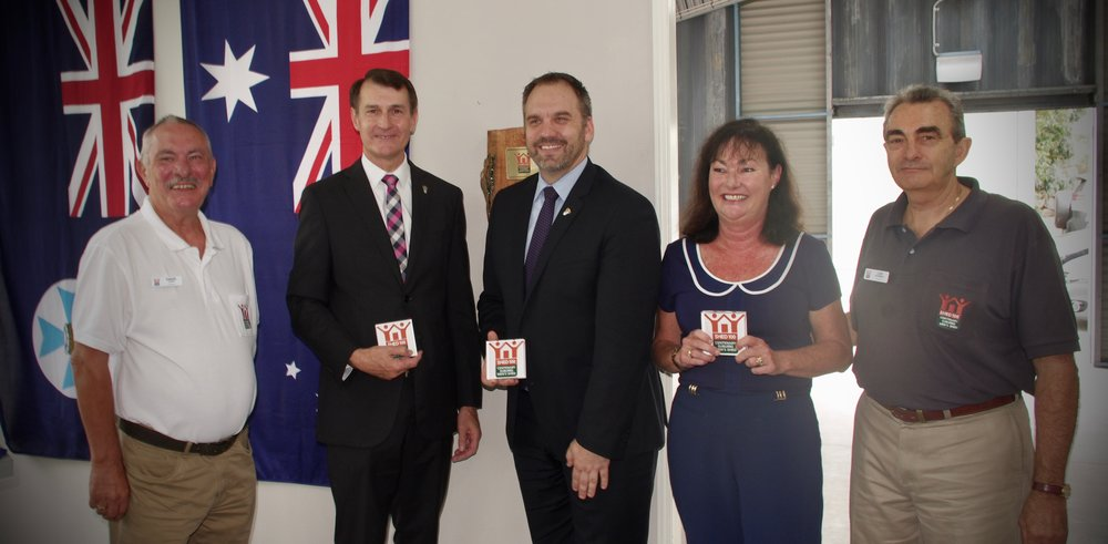 David Cope, Lord Mayor Cr graham quirk, cr matthew bourke, mrs tarnya smith mp, len paarman