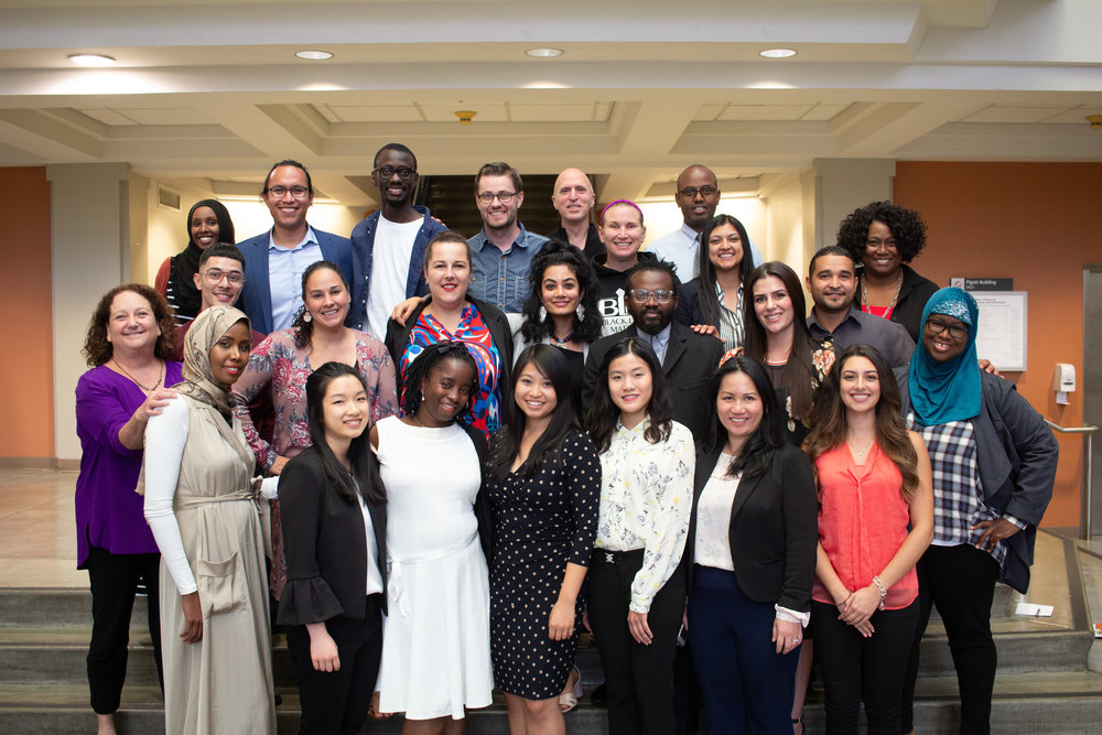 Alfie Scholars 2017 and 2018 cohorts, alumni, and staff at the Summer 2018 Conference