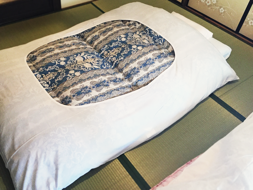 Traditional Japanese futon bedding