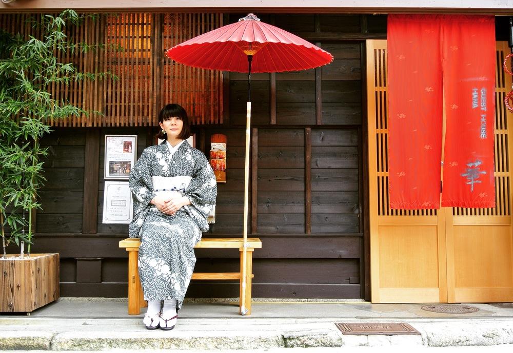 東京からのお客様です。華にて、お着付けさせていただきました。