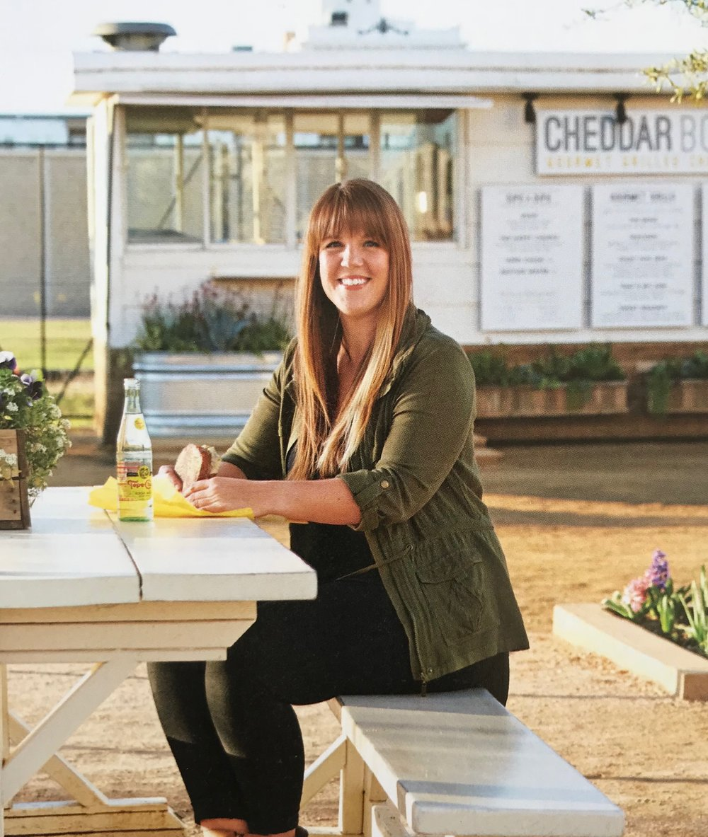 Living the Dream   Abby Rhodes had longed to own a business since she was a little girl, a dream she's achieved as the proud owner of Cheddar Box.