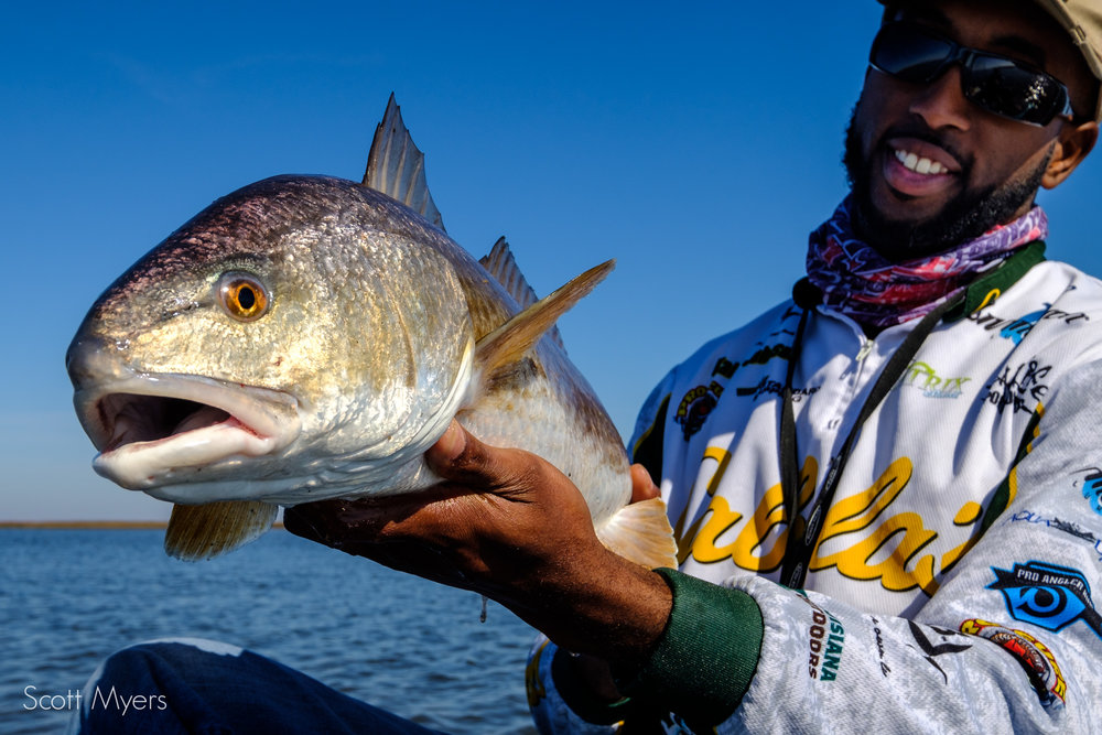 Kalon with a nice redfish