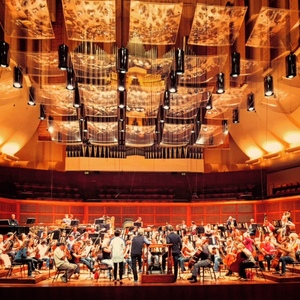 San Francisco Symphony rehearses Dispatches at Davies Hall.
