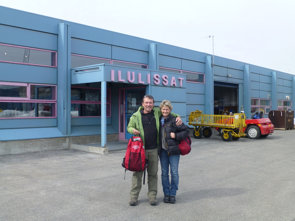 Pete and Cally arriving Ilulissat
