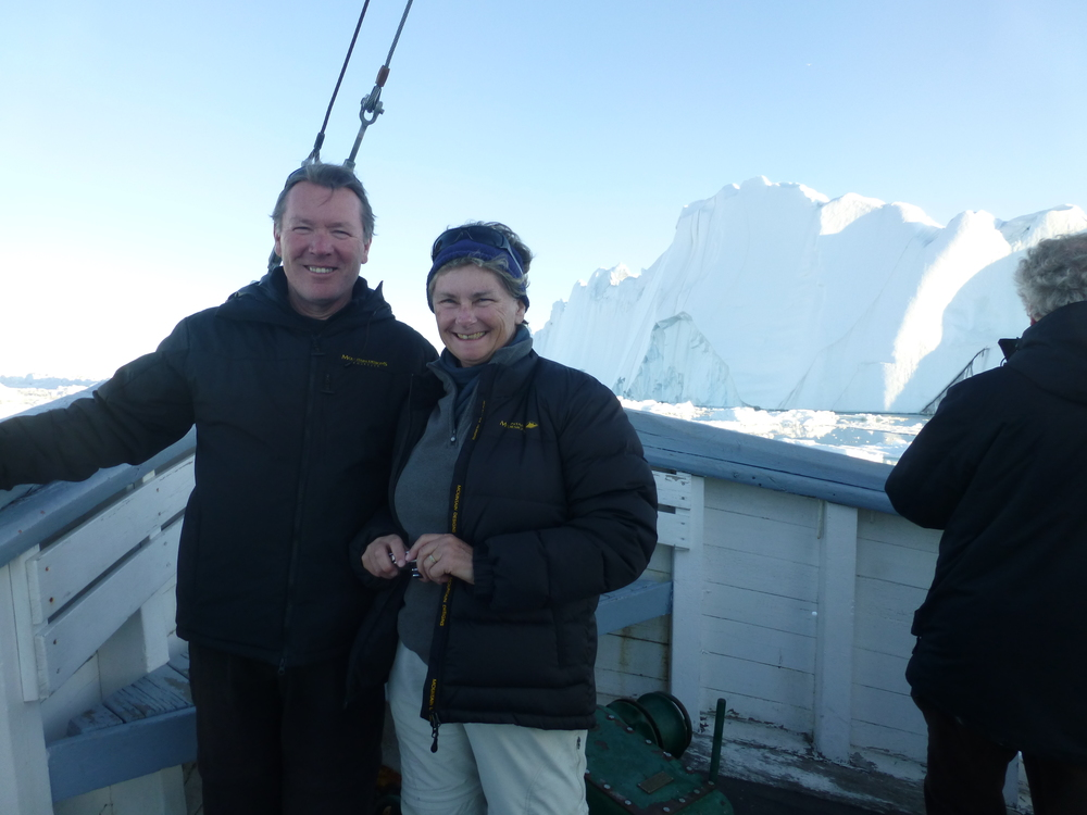 KEN AND CALLY MIDNIGHT BOAT TRIP AROUND DISKO BAY
