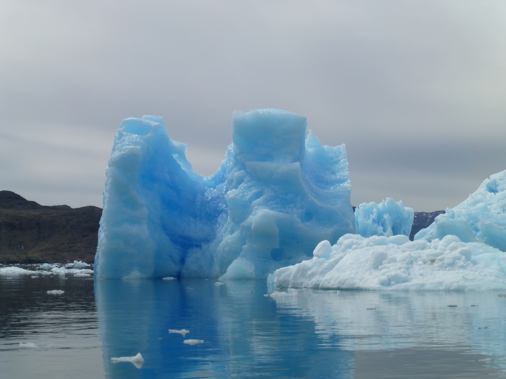 The ice really is blue in Southern Greenland