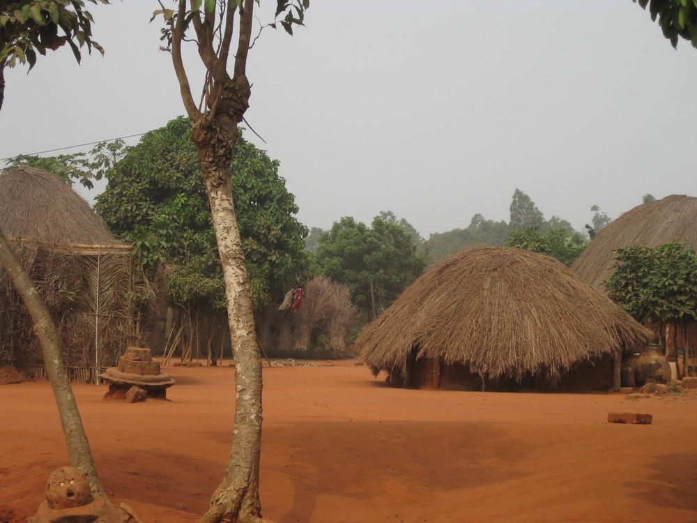 Traditional village near Lake Togo