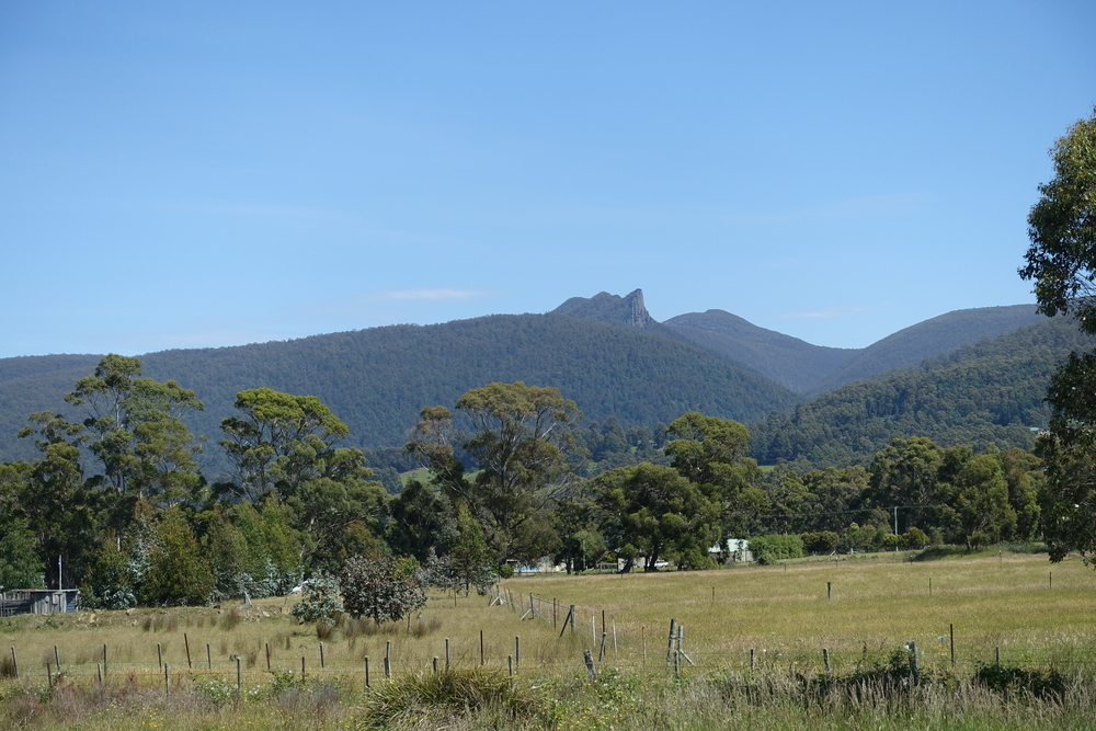Cathedral Rock from Huon Highway