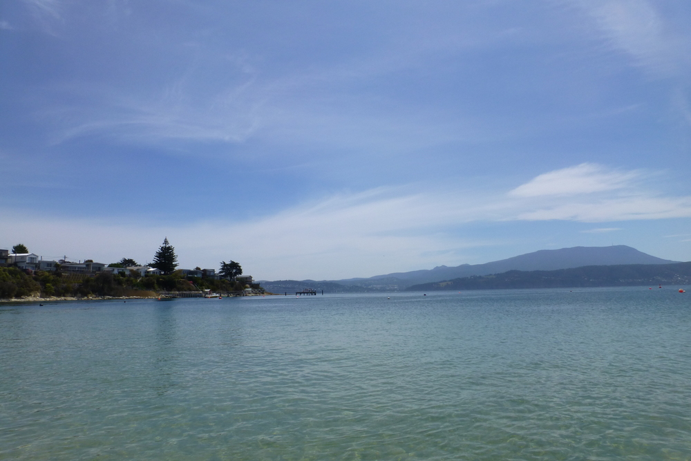 mt wellington from opossum bay