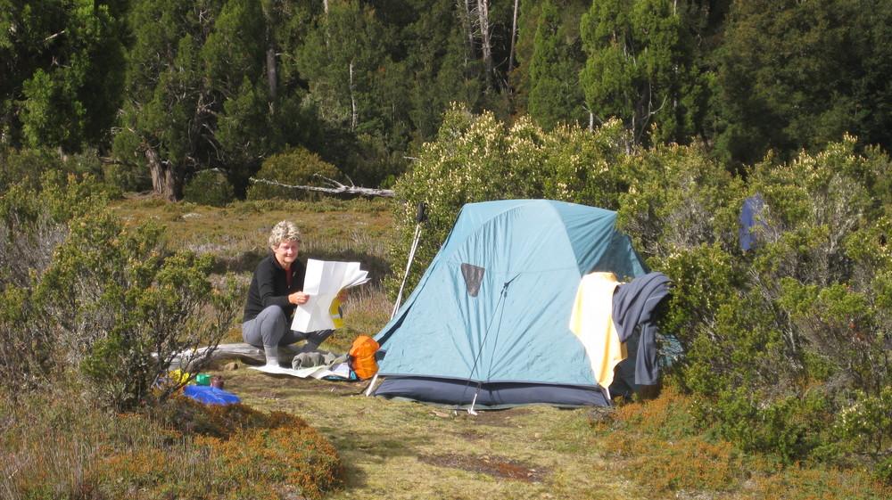 campsite lake adelaide