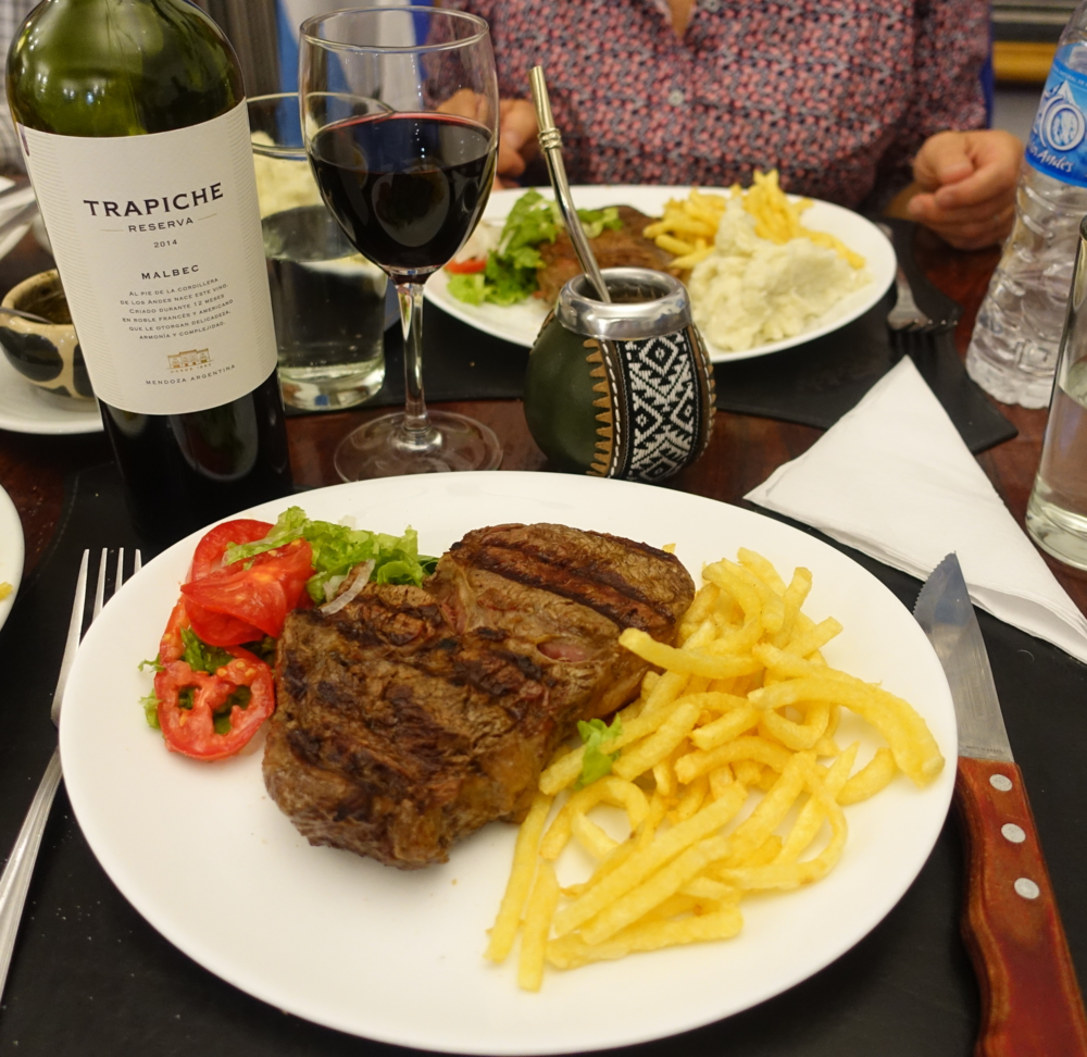 STEAKS, WINE AND MATE