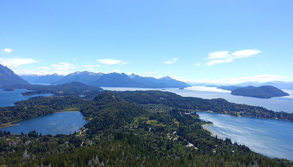 View From Cerro CampANARIO OF Lakes REGION AROUND Bariloche
