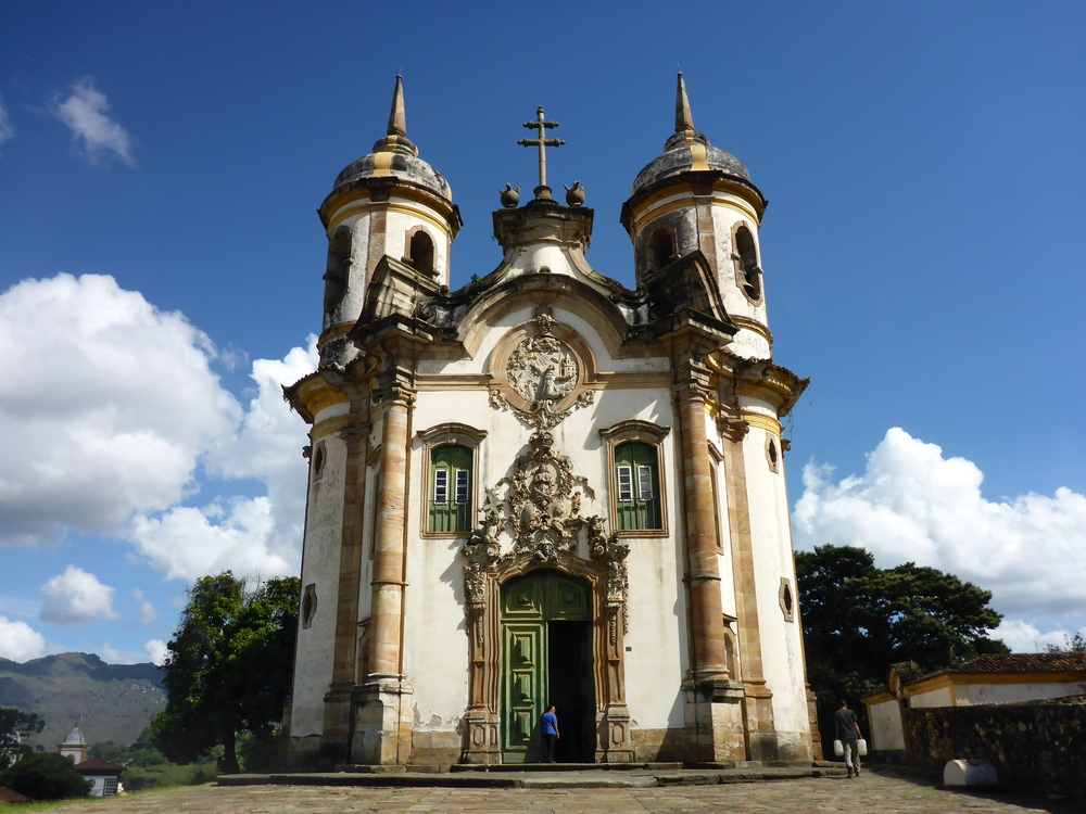 Church of the Third Order of St Francis in Ouro Preto. The facade is the work of Aleijadinho.