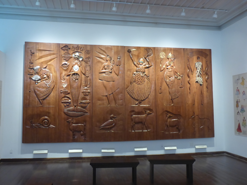 six of the Carybé panels in the afrobrazilian museum