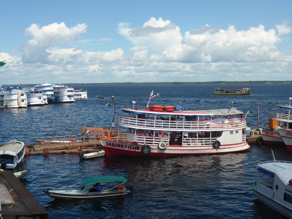 A vast armada of boats provide transport and move goods up and down the mighty amazon with manaus being the biggest port.