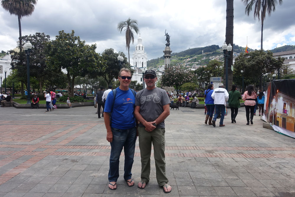 ken and pete in plaza grande
