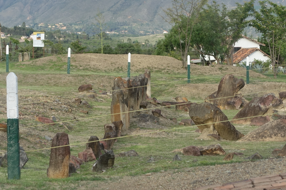 Stone monoliths of estacion astronomica